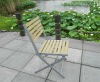 garden plastic wooden folding chair
