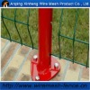 PVC coated Peach-shape post for steel Wire mesh fence