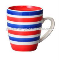 360cc handpainted stoneware mug