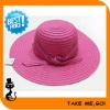 Pink Women Girl's wide Brim Floppy Fold Beach Hat Cap BHZ010