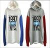 wholesale women 100% cotton stock fleece lady stock hoody for hotsales