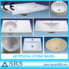 China Artificial white Stone Resin bathroom Sinks and basins