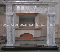 Fireplace carved by granite