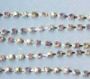 crystal rhinestone cup chain and crystal chains for clothing shop