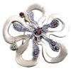 Brooch Blossom Flower Design With Crystal, 2012 Fashion new style Brooch