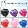 colorful fashion gemstone heart pendant