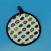 Plain Cloth Dot Printed Round Pot Holders