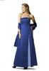 Floor length bridesmaid dress two color with shawl