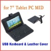 "7"" Android Tablet Leather Case for Epad MID tablet with USB keyboard"
