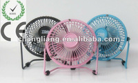 CL-8005 New Design USB Mini 4 Inch Energy Saving Iron Table Fan