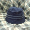 Floppy bucket hat with tape and studs decorated