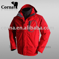 new fashion men 2 in 1 outdoor ski jacket