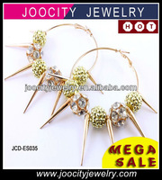 Fashion big fashion spike earrings