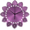 New designed wall clock purple lotus SHC018