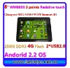 HOT Cheapest Sell 8 inch android tablet android 2.2 2*USB2.0 RJ45 WIFI 802