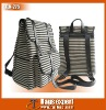 Casual Canvas with Black and white stripe Unisex Backpack