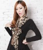 Fashion Small Size Leopard Voile Scarf