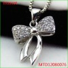 New cubic zirconia Butterfly Knot pendant 925 sterling silver jewellery
