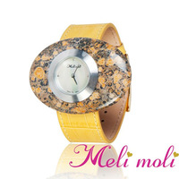 Watch Ladies Fashion Swiss Movement Gemstone Face
