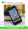 ZP200 Android 4.0 3D Phone 4.3 Inch QHD Screen MTK6575 1.0GHz 1GB RAM 3G HDMI 8.0MP Camera