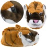 plush Funny Orange Tiger Animal Slippers for Women, Men and Kids