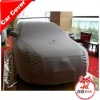 Soft felt backing fabric car cover with logo
