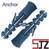 Nylon grey wall anchor plug or Plastic anchor