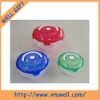 Plastic round salad bowel set with handle