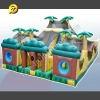Inflatable Interactive Game, Inflatable 3 Piece Tropical Obstacle Course