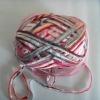 Fancy rainbow tape yarn for knitting