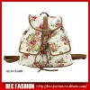Ladies Canvas Backpack,Floral Print Backpack,CT14319