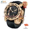 big size sport watch with PU leather strap