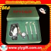 customized silver sport pens set with logo and 3pcs metal golf pens
