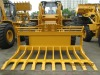 Wheel loader with rake