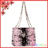 python grain leather ladies evening bag Leopard Skull women's shoulder chain bags