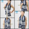2011.2012 newest Fashion100% acrylic soccer fans scarf