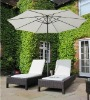 Pair 2 Bali Brown All Weather Sun Loungers Pool Patio Rattan Garden Furniture