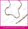 Stainless Steel Chocolate Ion-Plated Fashion Necklace and Bracelet Jewelry Set