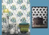 Modern charateristic vinyl wallpaper for home decor.