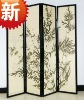 decoration 4 panel folding screens and room dividers
