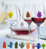 funny lovely silicone wine glass marker for party supply