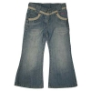 [LEAP] girl's basic jeans with bottom special pleat wash(child garment,kid wear)