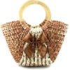FASHION CORN HUSK STRAW BAG