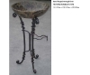 wrought iron stand without basin