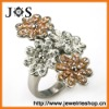 Hottest Style Crystal Fashion Rings Jewelry Stainless Steel Ring