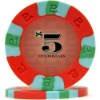 custom-made sticker 3 color clay poker chips