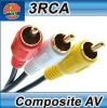 2RCA /3RCV Cable A/V cable