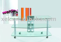 metal with glass TV stand