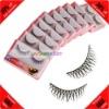 Cheap! 10 Pairs Synthetic Fiber Thick Wholesale False Eyelashes