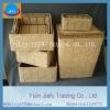 Corn husk storages baskets inside the rectangle laundry hamper